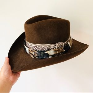 Stetson 4x Beaver Western Cowboy Hat Feather 7 1/2